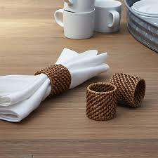 crate and barrel napkins artesia honey rattan napkin ring in napkin rings place card