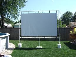 backyard home theater outdoor screen made with gemmy avs forum home theater