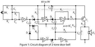 circuit diagram of 2 tone door bell electronics pinterest