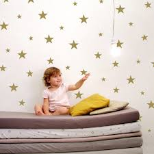 large star wall decals stickers gold nursery zoom