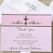 religious prayer s personalized thank you note cards