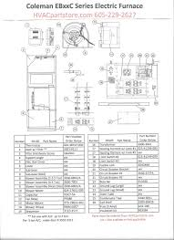 eb15b wiring diagram coleman electric furnace parts diagram