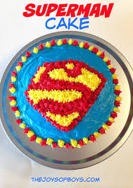 superman cake perfect for your next superhero party
