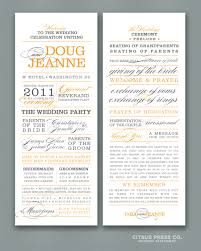 sles of wedding programs for ceremony what to include in your wedding program citrus press co
