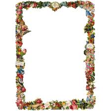 simple flower border designs for a4 paper free clip