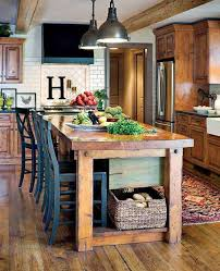 farm table kitchen island 32 simple rustic kitchen islands amazing diy interior