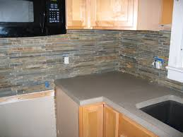 Rusty Brown Slate Mosaic Backsplash by Slate Backsplash Slate Tile Kitchen We Went With Slate Tile