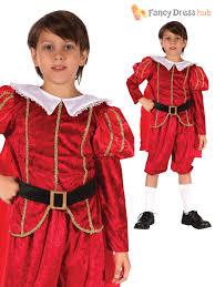 Tudor King by Age 4 11 Boys Deluxe Tudor Prince King Medieval Fancy Dress