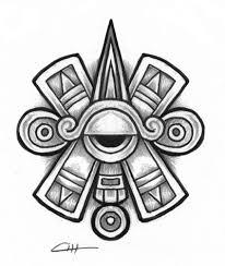 ollin aztec glyph symbol of centered eye or third eye