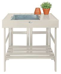 potting bench gardening benches with storage sink or plain