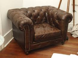 Leather Chesterfield Style Sofa Leather Sofa Chair Chesterfield Style At 1stdibs