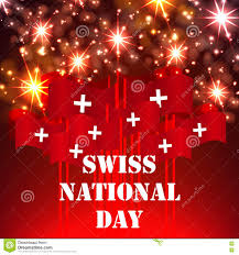 greeting card for swiss independence day stock vector image