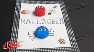 halloween greeting card from bottle caps jk easy craft for kids