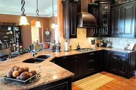 Kitchen Designs Dark Cabinets Leaning Quite Heavily Towards White - Kitchen decorating ideas with dark cabinets