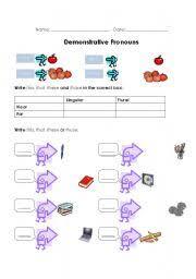english teaching worksheets demonstrative pronouns