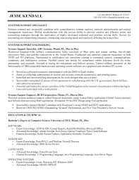 resume specialist exle systems support specialist resume sle