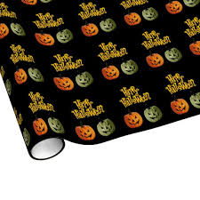 Halloween Gift Wrap - happy halloween cute and scary pumpkin gift wrap zazzle friends