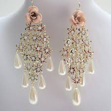 trendy earrings trendy fashion earrings chandelier earrings floral earrings