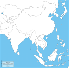 South States Map by South And East Asia Free Map Free Blank Map Free Outline Map