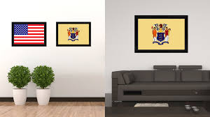 New Jersey State Flag Colors New Jersey State Flag Home Decor Office Wall Art Livingroom
