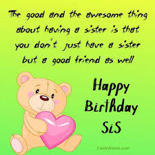 birthday wishes for step sister cards wishes