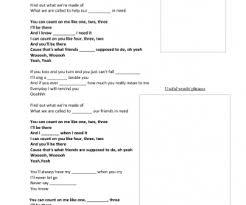 I Can Count On You Bruno Mars Worksheet Count On Me By Bruno Mars