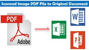 Pdf To Word Scanned Image Pdf File Into Original Soft Copy Document Pdf To