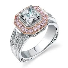 pink gold engagement rings nr109 a 18k white and pink gold engagement ring from simon g