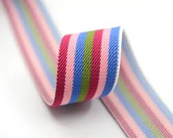stretchy ribbon 1 5 38mm wide multi stripes colorful elastic band waistband