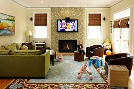 Living Rooms With Area Rugs Green Sofa Method Other Metro Traditional Family Room Remodeling