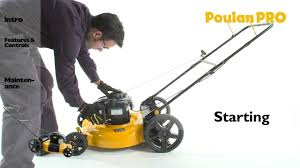 poulan pro mower operation youtube
