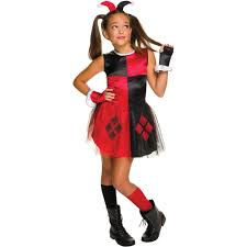 harley quinn girls tutu dress halloween costume walmart com