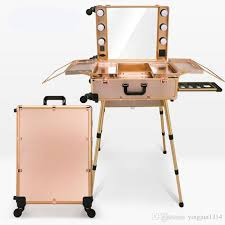 professional makeup lights makeup artist box with led lights station trolley studio