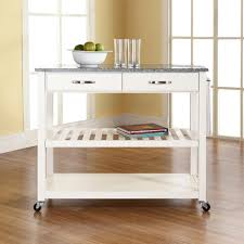 white kitchen cart island crosley white kitchen cart with granite top kf30053wh the home depot