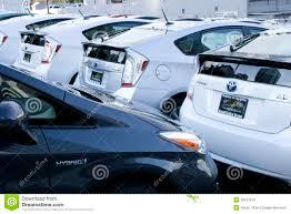 van toyota nieuwe prius hybride auto u0027s van toyota redactionele stock