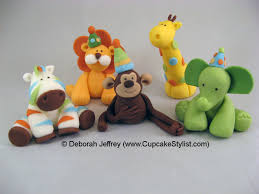 safari cake toppers cupcake stylist sweet safari fondant cake and cupcake toppers