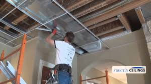 Suspended Ceiling Grid Covers by Suspended Ceiling Grid Types Youtube