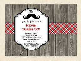30th invitation men birthday mustache 40th 50th bbq wood printable