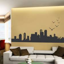 city skyline city skyline wall decal skyline wall decal