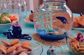 under the sea party ideas with ocean themed food and decorations