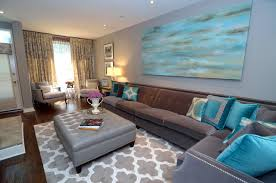 Turquoise Living Room Decor Turquoise Living Room Transitional Living Room Toronto By