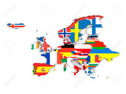Political Map Of Europe by Political Map Of Europe With State Flags Isolated On White