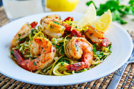Dinner Ideas With Shrimp And Pasta Shrimp Scampi With Zucchini Noodles On Closet Cooking