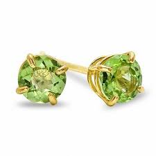 peridot stud earrings 4mm peridot stud earrings in 10k gold gold earrings earrings