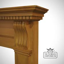 corbel wooden fireplace surround choice of pine and oak
