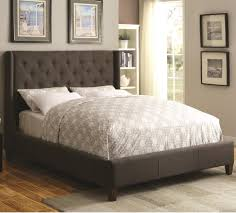King Bed Frame Upholstered Coaster Upholstered Beds Upholstered King Bed With Tufted