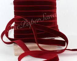 velvet ribbon by the yard velvet ribbon etsy