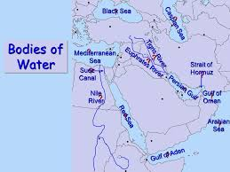 middle east map water bodies middle east map mr nolen penncrest high school media pa mr