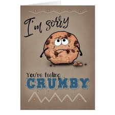 get well soon cookies sorry feeling crumby cookie get well soon card zazzle