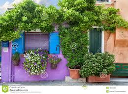 color houses on burano island near venice stock photo image